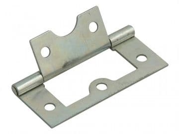 Flush Hinge Zinc Plated 60mm (2.5in) Pack of 2